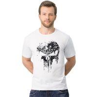 Mode Streetwear Hommes Hip Hop Squelette T-shirts 100% Coton T-shirt Casual 2-2XL Harajuku Crossfit Tops T-shirt Crâne TX147 RFF