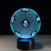 Real Madrid Football Style 3D Table Lamp Xmas Gifts Night Li...