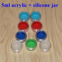 Contenitore in silicone acrilico. 5ml contenitori in silicone concentrato per cere, in stick antiaderente