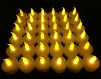Flameless LED Teelichter, Batteriebetriebene Unscented LED Teelicht Kerzen, gefälschte Kerzen, Bernsteinfarbe Teelichter (36 Stück)