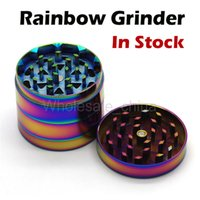 Date Ice Bleu Couleur Herb Grinders 50mm en alliage de zinc arc-Grinders 4 couches en métal Grinder Fit E Cigarettes VS sharpstone Grinders
