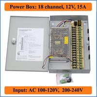 18 ports DC12V 15A CCTV Caméra de sécurité Caméras vidéo de sécurité Boîtier suspendu pour commutation de sources d'alimentation Caméra IP Canal 18CH