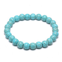 Natural Lava Stone Turquoise Prayer Beads Charms Bracelets A...