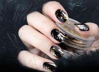 1 Caixa De Prata De Ouro Glitter Flocos De Alumínio Efeito Espelho Mágico Pós Lantejoulas Prego Gel Polonês Pigmento Cromado