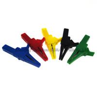 مقطع التمساح 5 قطع مع مقبس الموز 4 مم ، مطلي بالنيكل والنحاس + كليب كابل التمساح PA ، CATIII 1KV / MAX.32A ، اختبار سلك تلقائي ، خمسة ألوان