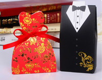 8 photos wholesale wedding shower gifts for bride online red color bride and groom candy boxes wedding