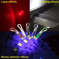 LED Key Chain Flashlight Mini Flashlights 3 in1 LED Laser Li...