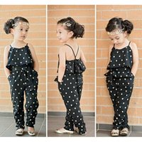 2016 new Girls Casual Sling Clothing Sets romper baby Lovely...