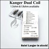 Orijinal Kanger kangertech aerotank mega için yüksek bobinleri kafa bdc çift bobin mega T3D EVOD-2 cam protank 3 emow topevod pro tankı 100% Orijinal
