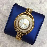 2019 sıcak satış Moda Lüks Kadınlar İzle saat haddeleme Elmas Özel Tasarım Relojes De Marca Mujer Bayan Elbise İzle Kuvars damla nakliye