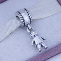 925 Sterling Silver Screw Core Dangle Spacer Charm Koralik Biżuteria z chłopiec dziecko dzieci, nadaje się do bransoletki Pandora 1 sztuk / partia