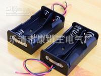 18650 Parallelle verbinding batterijhouder Case met draad leidt 1000pcs / lot