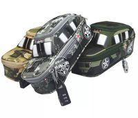 yaratıcı yeni toptan Serin Kamuflaj Araba Jeep Stil büyük Kalem Kutusu Kılıfı Çanta Kalem Tutucu Okulu Tedarik Erkekler Kızlar renk rastgele