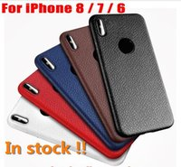 For iphone X 8 7 6 6s plus Ultra- thin Litchi Leather Pattern...
