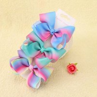 50pcs 4 Inch Rainbow Jojo Bows Mini Bow DIY Jojo Bows Christ...
