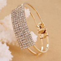 Bling Bling Shiny Hochzeit Armbänder Manschetten Kristall Brautschmuck Set gehören Armband 2019 Neueste Brautaccessoires