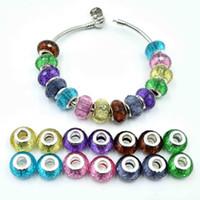Encantos do grânulo ifor Pulseira Fne DIY Beads Jóias Misturado Resina Beads Rodada Beads Para Fazer Colar Pulseira Acessórios Presentes Encantos Contas