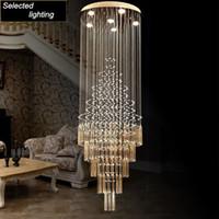 Современный подвесной светильник дизайн капли дождя гостиная столовая люстры свет K9 Кристалл светильники AC110-240V Кристалл потолочные светильники
