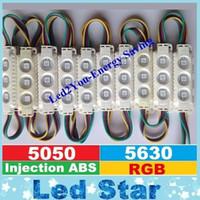RGB Led Module Weiß / Schwarz Shell Wasserdicht IP65 3LEDs 5050 ABS Kunststoff 1,5 W Led Schaufenster Licht 160 Winkel