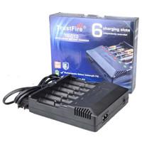 100% Otantik Trustfire TR012 6-Yuvası Pil Şarj 18650 16450 14500 18350 Şarj Edilebilir Piller VS Nitecore I8 DHL Ücretsiz Kargo