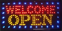 Venda direta nova loja de luz de publicidade bem-vindo sinal aberto 33 * 60 CM levou sinal de néon levou cartazes Atacado