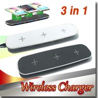 Wireless Charger 3 in 1 Wireless Charger For 3 Cellphone + 2...