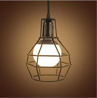 8 Photos Wholesale Birdcage Light Fixtures   New Design Retro Wrought Iron  LED Pendant Lights E27 American Style
