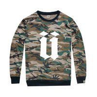 UNKUT T- shirts Camo for men hip- hop t shirts long sleeve Top...