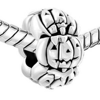 Factory retail Halloween metal alloy material Pumpkins bead ...