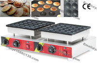 Freies Verschiffen Gewerbliche Nutzung Nicht-Stick 50 stücke 110V 220V elektrische Niederländer Mini-Pfannkuchen Poffertjes Maschine Baker Maker Eisenformpfanne