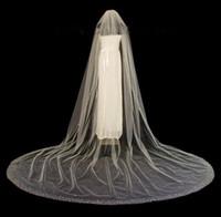 Luxo Catedral Véu de Noiva Com Cristal Borda Cristais Diamante Top Véu Do Casamento Branco Marfim Bling Bling Acessórios Para Noivas