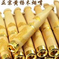 Супер подлинный самшит фильтр держатель сигареты держатель сигареты 18K золото 8-9 см резные ремесло рот