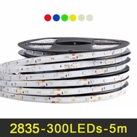Fita LED RGB 5 m 60 LEDs / m SMD 2835 Fita LED DC 12 V IP65 À Prova D 'Água fita Flexível Branco Quente Branco Vermelho Verde Azul Amarelo