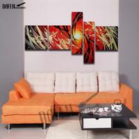 100% Pintura Al Óleo Pintada A Mano Arte Abstracto Moderno 5 unids Pintura de la Lona Sin Marco Imagen de la Pared para el Dormitorio Decoración Del Hogar