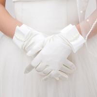 2016 neue Kollektion Braut Hochzeit Handschuhe Kurze Länge Mit Finger Gute Qualität Elegant Großhandelspreis