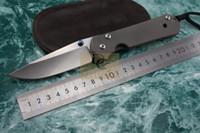 Javali Chris Reeve Grande Sebenza 21 estilo faca dobrável D2 lâmina com cetim Polido TC4 liga de titânio lidar com caixa original