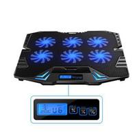 """Novo Ajustável 6 Ventiladores Laptop Cooling Pads 2 Portas USB e Notebook Pad para 14.6 """"-16"""" Laptop Livre para Controlar 6 Velocidade Do Vento com Tela de LCD"""