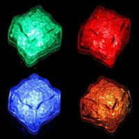 6Colors- 12Pcs lot White LED Waterproof Ice Cubes Light For p...