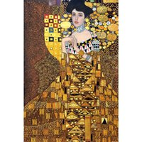 Gustav Klimt Donna Ritratto di Adele Bloch Bauer riproduzione della tela a olio su tela dipinto a mano arredamento d'arte