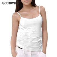 Camisoles en gros-Femmes Top Gilet Pure Color Body Spaghetti Tight Mignon Singlet Blanc PInk Gris Singlet Gootuch 2454