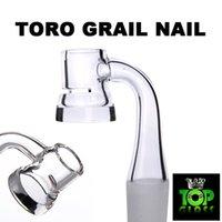 Neue Toro Graile Quarz-Banger-Nägel mit geschlitzter, hoher Luftströmung mit 5 mm dickem Boden halten die Wärme viel länger.