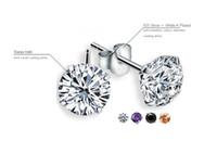 Verkauf 4mm CZ-Diamant-925 Sterlingsilber-Ohrringe für Frauen Männer Schmuck kühlen Männer Bolzen-Ohrringe arbeiten Frauen 4 Farben Ohrringe DHK190