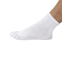 Vente en gros-2016 1 paire hommes coton sport antibactérien santé cinq doigts chaussettes de soins des pieds orteil vente chaude