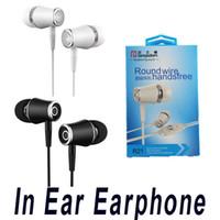 소매 패키지와 아이폰 삼성 휴대 전화의 경우 3.5mm의 귀 이어폰 Heasets에서 마이크 슈퍼베이스와 Langsdom R21 이어폰 스테레오 이어폰