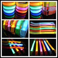 Deportes al aire libre Mesh Style LED Flexible Intermitente brazaletes de seguridad ADVERTENCIA Seguridad Correa para la muñeca Noche Actividad Fiesta Cheer Nylon Band Transparente