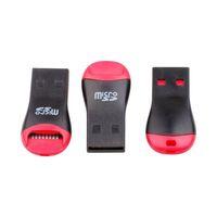 الجملة 200pcs / lot USB 2.0 مايكرو SD T-Flash TF قارئ بطاقة الذاكرة صافرة ستايل شحن مجاني