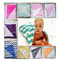 Baby Ins handgemachte minky Decken Infant Stripe Zickzack Swaddle Chevron Wrap Neugeborenen Swaddling Mode Kinderwagen manuelle Decke Kindergarten Bettwäsche