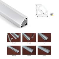 100 X 1M insiemi / lot 30 gradi di angolo portato profilo in alluminio e V canale angolo per cucina o lampade cabinet led