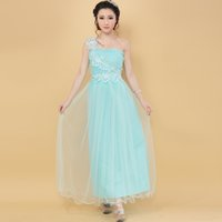 Promotion one shoulder Bridesmaid Dresses bride sisters perf...