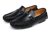 2019 New Men Driving Shoes Casual Italian Blue Loafers Desig...